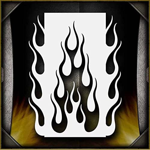 graphic about Flame Stencils Free Printable known as Flame Stencils: