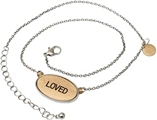 Elanze Design Loved Brushed Gold Tone One Size Fits Most Metal Chain Necklace