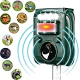 MCAIOX Ultrasonic Repeller, Solar Powered Waterproof Outdoor Animal Repeller with...