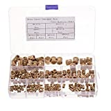 TSP Surtido de tuercas y pernos de 210 piezas M2 ~ M10 M2 ~ M10 roscado métrico de latón moleteado redondo insertado, set surtido de tuercas