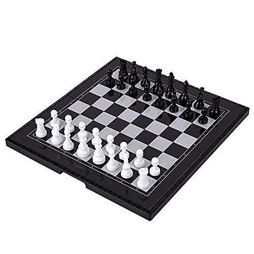 Magnetic Chess, Children'S Wooden Toys, Foldable Design Clear Patterns Educational and Leisure Parent-Child Interaction, for Students Adults Beginners