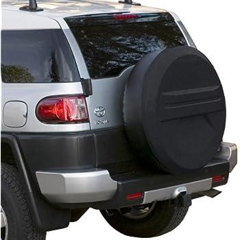 2007-2009 Toyota FJ Cruiser Plastic Face /& Vinyl Band - Matte Black Texture 32 Rigid Tire Cover