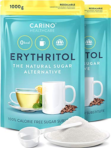 Erythrit Zuckeralternative kalorienfrei 2x 1.000g kaloriefrei - vegan & glutenfrei