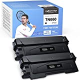 myCartridge SUPRINT Compatible Toner Cartridge Replacement for Brother TN660 TN 660 TN630 use with MFC-L2700DW HL-L2320D MFC-L2705DW MFC-L2740DW DCP-L2540DW HL-2360DW HL-L2300DW (Black, 2 Pack)