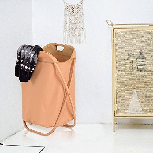 Bestdeal.shop Folding Basket X Frame Laundry Basket Hamper Clothes Storage Organizer Bin Washing Bag