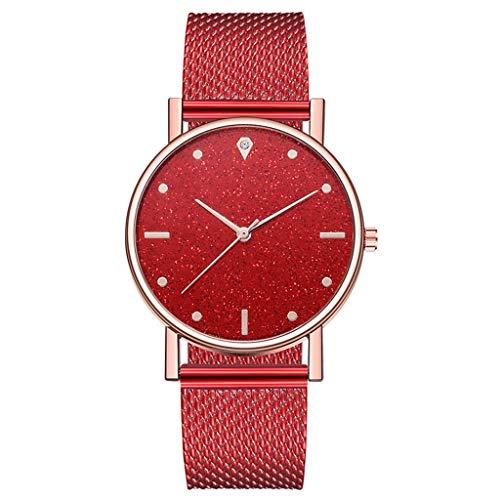 LIHAEI Damen Armbanduhr Analog Quarz Uhr mit Edelstahl Frauen Uhren Armband Quarzwerk   23.5mm Bandbreite (D)