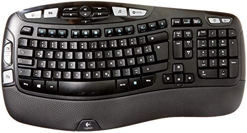Logitech Wireless Keyboard K350 - Teclado (RF inalámbrico, Hogar, AZERTY, Francés, Negro, PC/Server)