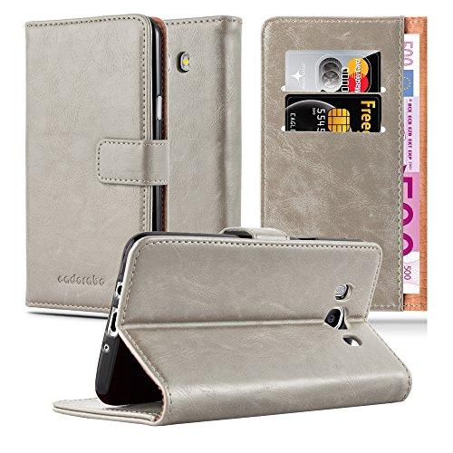 Preisvergleich Produktbild Cadorabo Hülle für Samsung Galaxy J7 2016 (6) - Hülle in Cappucino BRAUN Handyhülle im Luxury Design mit Kartenfach und Standfunktion - Case Cover Schutzhülle Etui Tasche Book