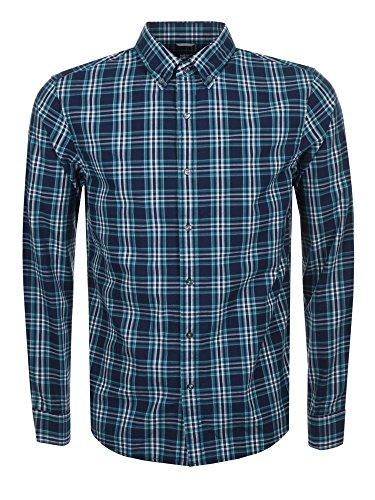 Michael Kors Camisa de manga larga tejida para hombre en la medianoche