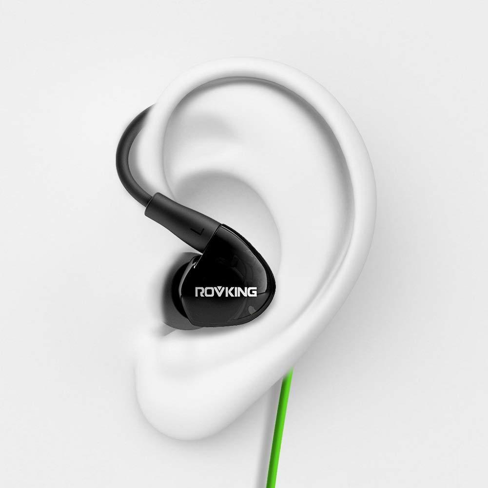 ROVKING Headphones Sweatproof Microphone Earphones