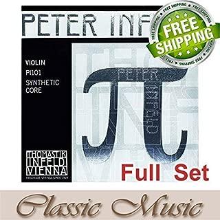 Classic Music Thomastik Peter Infeld (PI101)Violin Strings Full Set 4/4 Ball End