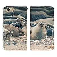 Xperia 5 901SO ベルトなし 手帳型 スマホケース スマホカバー bn703(D) アザラシ 海豹 トッカリ エクスペリア スマートフォン スマートホン 携帯 ケース エクスペリア5 手帳 ダイアリー フリップ スマフォ カバー