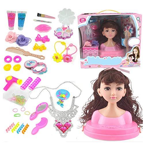 Model Styling Head, Schminkkopf Frisierkopf Für Kinder, Mädchen Dressing Kämme Spielzeug Mit Luxusverpackungsbox
