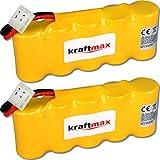 kraftmax 2X Akku für Bosch SOMFY K8 K10 K12-6V / 2000mAh NIMH - Hochleistungs- Akku mit über 42% mehr Leistung gegenüber den Akku mit 1400 mAh