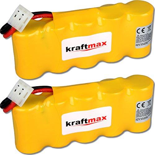 kraftmax 2X Akku für Bosch SOMFY K8 K10 K12-6V / 2000mAh NIMH - Hochleistungs- Akku mit über 42{7a8e21ca428c95e632df108f4f8427309477fd37266958b47c19c85e78313c08} mehr Leistung gegenüber den Akku mit 1400 mAh