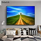 Blauer Himmel Landschaft Bild Wohnzimmer Moderne Wohnkultur