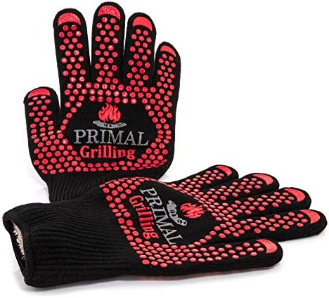 Primal Grilling Gloves Ultra Heat Resistant Grill Oven Mitts Virtually Fireproof Cooking Gloves product image