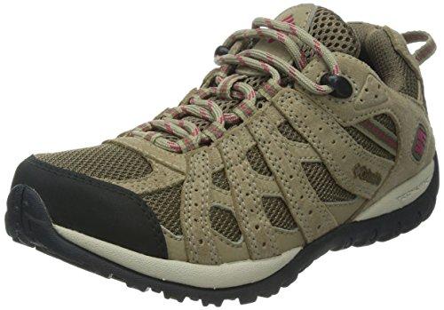 Columbia Redmond Waterproof - Zapatillas de montaña para mujer, Marrón (Saddle, Red Orchid 269), 39 EU