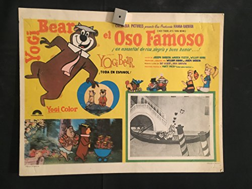 Hey There It's Yogi Bear 1964 Original Vintage Mexican Lobby Card Movie Poster, Cartoon, Hanna Barbera