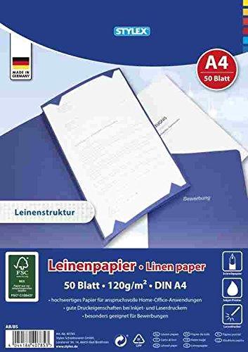 STYLEX 40785 Hochwertiges Leinenpapier, 120 g/m²