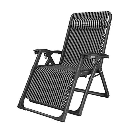 FXBFAG Tumbona plegable de gravedad cero para exteriores, para patio, tumbonas ajustables y reclinables, para playa, camping, para personas pesadas