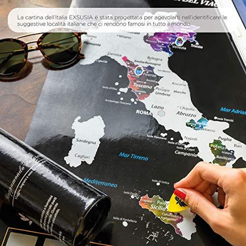 Cartina Geografica Per Segnare Luoghi Visitati.Fotoe20 It Shop Exsusia Mappa Del Mondo Da Grattare Con Design Esclusivo Mappamondo Da Grattare Cartina Geografica Italia Da Grattare Il Planisfero Del Viaggiatore Imperdibile Mappa Del Mondo Scratch Map