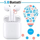 auricolare bluetooth,cuffie senza fili,cuffie wireless stereo 3d with ipx5 impermeabile,accoppiamento automatico per chiamate binaurali,adatto compatibile con iphone/apple airpods/android