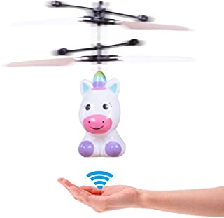 RC Helicopter Rechargeable Mini LED Light Up Infrared Induction Drone Flying Toys - Unicorn RC Toy