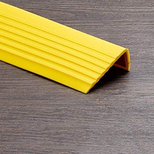 Treppenkante - Anti-Rutsch-Treppenkanten-Nasenverkleidung Selbstklebendes Treppenkanten-Treppenstufenkanten-PVC-Kantenband Wasserdicht und rutschfest für Treppen (1 m) (Gelb, 6 x 2,5 cm) Isolierband