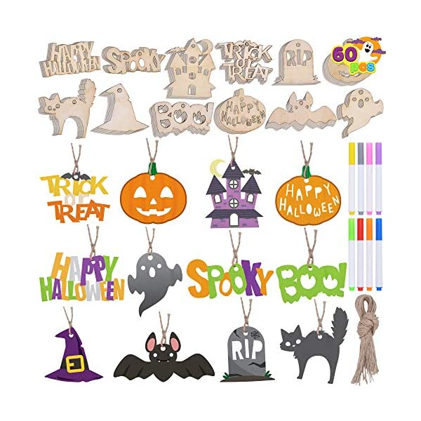 Halloween-Wooden-Slices-DIY-Arts-Crafts-Kit-Blank-Cutouts-Ornaments-Make-Your-Own-Gift-Tags-Decorations-for-Kids-Homeschool-Learning-Family-Activities-Party-Favor-Supplies