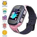 Kinder SmartWatch Digitaluhr mit Taschenlampe Games SOS 1,44 Zoll Touch LCD für Jungen Mädchen Geburtstag (pink)