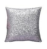Rosennie Solid Color Glitter Pailletten Dekokissen Fall Cafe Home Decor 40cm*40cm Kissenbezüge...