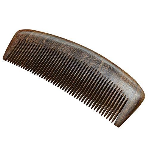 TOOGOO Natural Health Care Noir Or Sandalwood Peigne à Cheveux Anti-Statique Barbe Peigne de Brosse à Cheveux Brosse à Cheveux Hommes Femmes