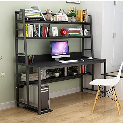 ALIPC Compact Practical with Bookshelf Computer Desk, Bookshelf Desk Combination Storage Laptop Desk Kids Study Workstation Desk for Home Office-h 140x60x164cm(55x24x65inch)