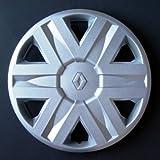 Jeu de 4 Enjoliveurs Neuf pour Renault Megane 1 / Laguna 1 / Clio 1 / Clio 2 / Twingo 1 / Scenic 1 / Espace 2 / Espace 3 / Kangoo 1 avec Roues Originales en 13 Pouces