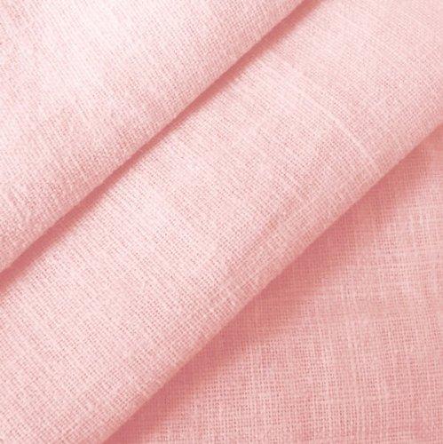 STOFFKONTOR 100% Leinenstoff - edler Naturstoff - vorgewaschen - Meterware, hell-rosa - zum Nähen von Kleidern, Röcken, Trachtenmode