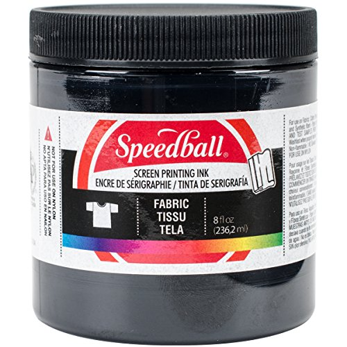 Speedball Fabric Screen Printing Ink, 8-Ounce, Black