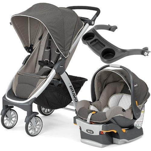 Chicco - Bravo Stroller Trio System with Child s Tray- Papyrus