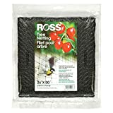 Ross 15991 UV Tree Netting Protects Fruits from Birds and Animals, 26 feet x 30 feet, Black