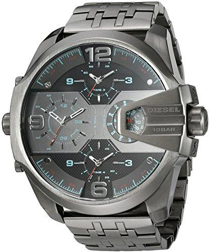 Diesel Men's 'Uber Chief' Quartz Stainless Steel Casual Watch, Color:Grey (Model: DZ7372)
