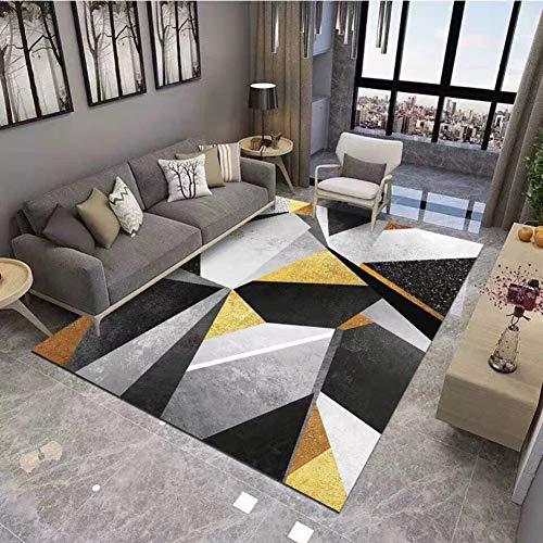 Moderne Geometrische Teppich Für Wohnzimmer, American Style Weich Teppiche Anti-Skid Runner Fußboden Teppich Schlafzimmer Badezimmer Fußmatte-d 180x280cm(71x110inch)