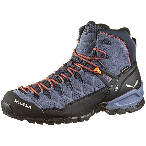 Salewa MS Alp Trainer Mid Gore-TEX Herren Trekking- & Wanderstiefel, Blau (Ombre Blue/Fluo Orange), 46.5 EU