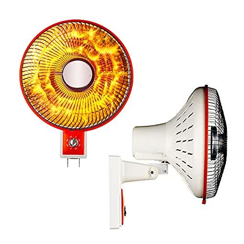 Bcofo 500W/700W/1000W Calefactor Fibra de Carbono,Radiador de Aire Caliente para el Frio,Estufa cerámica,2 Niveles de Potencia,Protección sobrecalentamiento y antivuelco,Bajo Consumo (Color : Red)