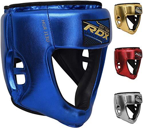 RDX Bambini Caschetto Boxe per Sparring, MMA Allenamento | Junior Metallic Cuoio Casco per...