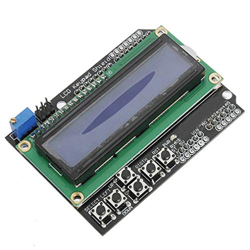 HiLetgo 1602 LCD Keypad Shield 1602 LCD Expansion Shield Board Blue Backlight 4.5-5.5V for Arduino Duemilanove Robot