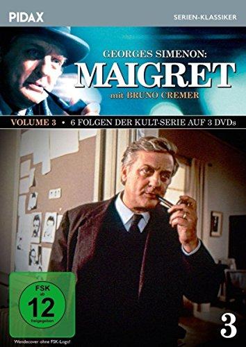 Maigret, Vol. 3 / Weitere 6 Folgen der Kult-Serie mit Bruno Cremer nach dem Romanen von Georges Simenon (Pidax Serien-Klassiker) [3 DVDs]