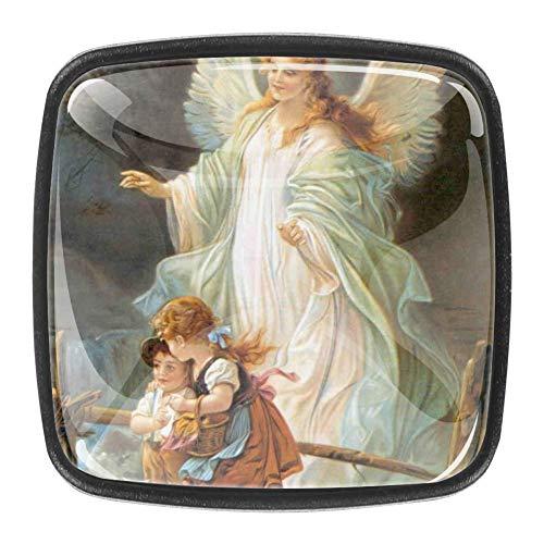 Guardian Angels Pinturas Pinterest Türgriff, transparent, 4 Stück