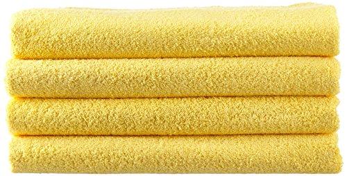 NatureMark 4X, 100% Baumwolle Duschtücher, gelb, 4er Pack 70x140cm, 4