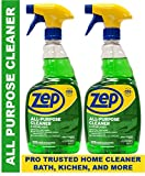 Zep All-Purpose Cleaner and Degreaser 32 Ounce ZUALL32 (Pack of 2) Cleans Almost Every Surface