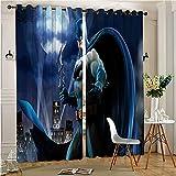 Juego de cortinas perforadas para la cocina Bat-man Gotham Saver Multicolor impreso cortina para sala de estar y dormitorio 72 x 96 pulgadas